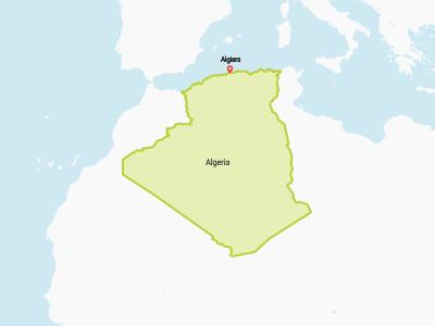 Algeria Map Africa