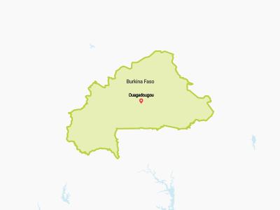 Burkino Faso Map Africa