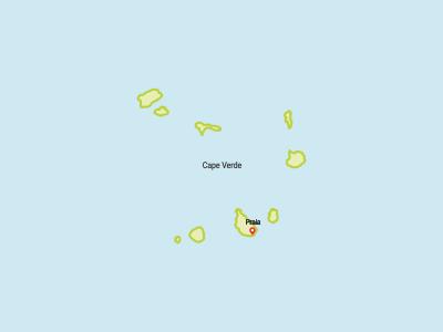Cape Verde Map Africa