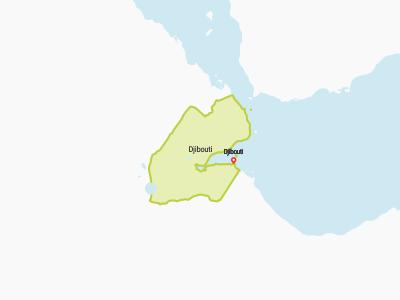 Dijbouti Map Africa