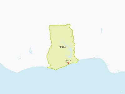 Ghana Map Africa
