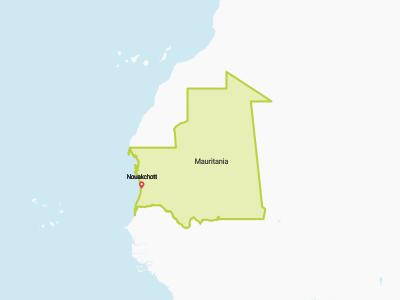 Mauritania Map Africa