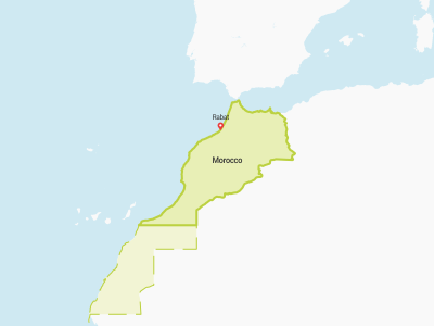 Morocco Map Africa Copy