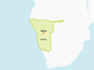 Namibia Map Africa