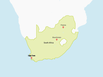 South Africa Map Africa