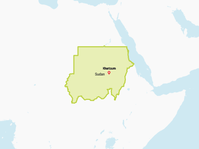 Sudan Map Africa