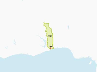 Togo Map Africa