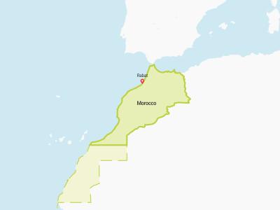 Western Sahara Map Africa
